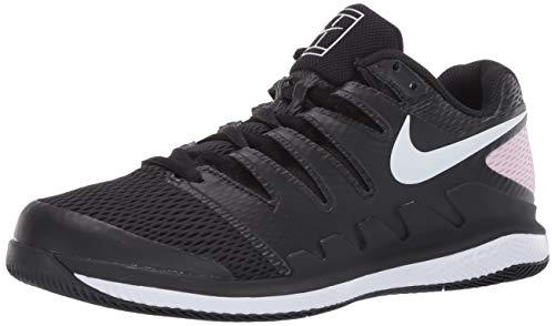 Nike NikeCourt Air Zoom Vapor X, Tennis Shoe Womens, Negro/Espuma Rosa/Blanco, 38 EU