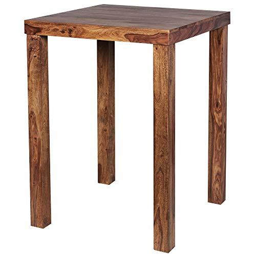Wohnling Bartisch Table de Bar, Bois, Sheesham, 80 x 80 x 110 cm