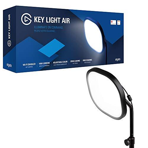 Elgato Key Light Air, Professionelles LED-Panel mit 1.400 Lumen, Multi-Layer-Diffusionstechnologie, Farbtemperatur einstellbar, App-gesteuert, für Mac/Windows/iPhone/Android