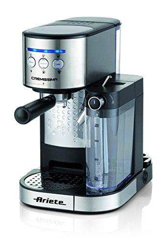 Ariete 1384 Cafetera espresso Cremissima, 1 litro, acero inoxidable