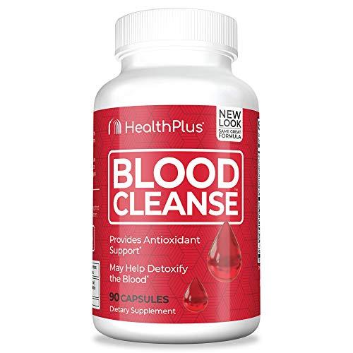 Health Plus Blood Support - Dietary Supplement - Gluten Free, Natural Herbal Ingredients (90 Capsules, 45 Servings)