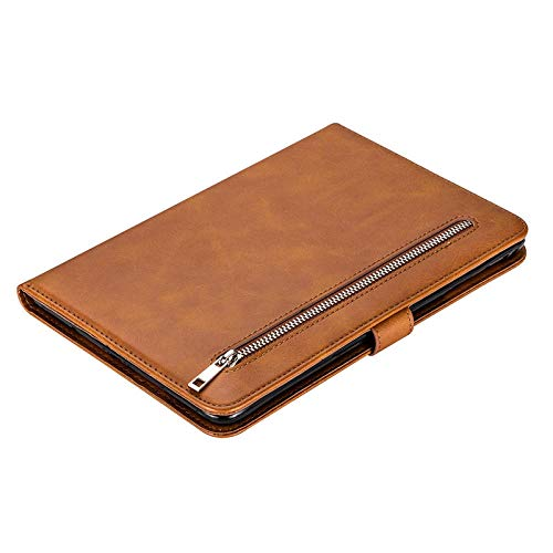 XIAOYAN Luxury For Samsung Galaxy Tab A T580 10.1 Case Flip Stand Cover for Samsung Tab A 10.1 2016 SM-T580 T585 Tablet Zipper Bag-Brown