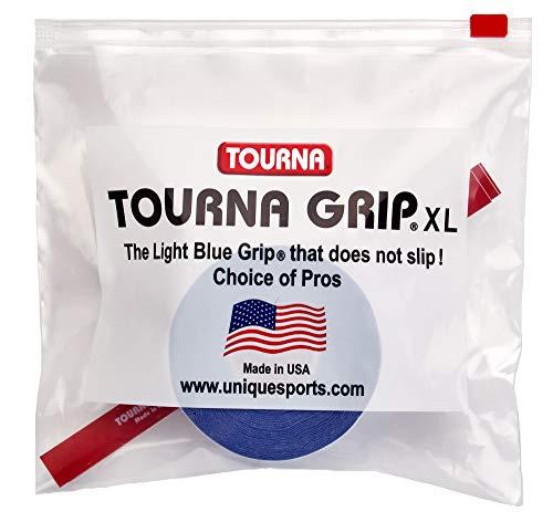 Tourna Grip XL 5 Grips per Pack, trademarked Blue