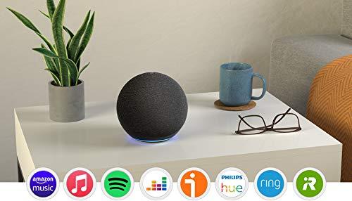 Echo (4.ª generación) | Sonido de alta calidad, controlador de Hogar digital integrado y Alexa | Antracita