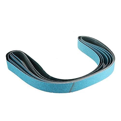 Schleifband 6 stücke 2 x 72 Zoll 120 Körnung Zirkonia Schleifbänder Metallschleifen Schleifpapier Polieren für Bandschleifer