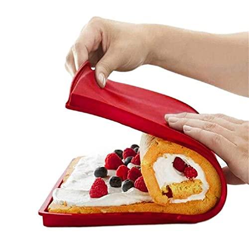 DYXYH 4 unids Swiss Roll Torta Torta Horneado Bandeja Hoja Jelly Pan Cookies Molde Sushi Silicone Herramienta Accesorios de Cocina