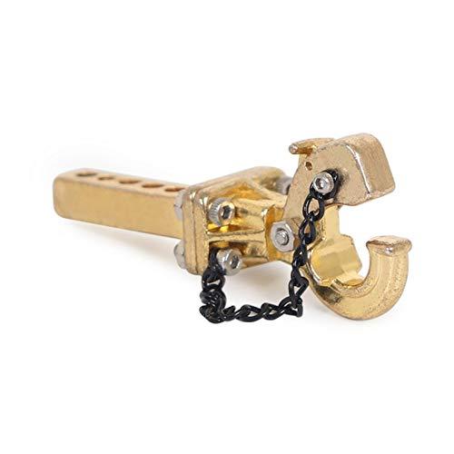 Qinglan ZHJHUA Full Metal 1/10 Anhänger Drop Hitch Empfänger Tow Hook Fit für Axial SCX10 90046 Traxxas TRX4 RC Crawler Auto (Color : Gold)