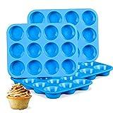 FJYDM Molde para Muffins De Silicona, Mini Molde para Muffins De 4 Piezas, Molde para Hornear De Silicona Antiadherente, Sin BPA Y Apto para Lavavajillas, Ideal para Hacer Tortas para Muffins