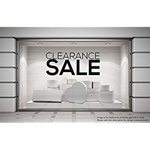 CLEARANCE SALE Shop Window Sticker Retail Display Store Discount Stock Products Promotion Front Vinyl Decal Graphic