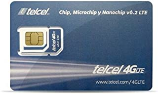 Telcel Mexico Prepaid SIM Card with 2GB Data and Unlimited Calls and SMS Universal SIM