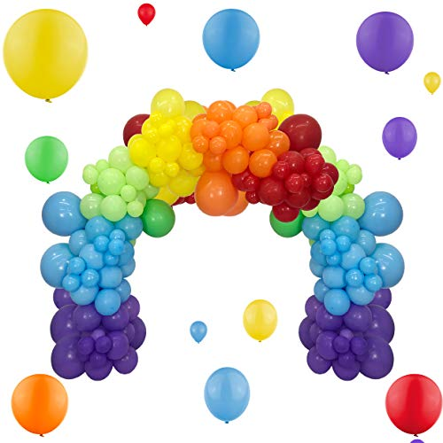 Rainbow Balloons Garland Kit 90Pcs Mixed Size 5/12/18 Inch...