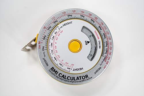 AnthroFlex BMI- Meetband met BMI rekenmachine voor Lichaam Mass Index, Lichaam Circumference en Obesitas Risico evaluatie - In metrische en voetinsnijdingen, voor mannen en vrouwen (2 verpak)