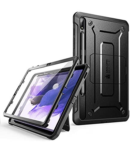 SUPCASE Hülle für Samsung Galaxy Tab S7 FE 12.4 Zoll 2021 Bumper Hülle 360 Grad Schutzhülle Robust Cover [Unicorn Beetle PRO] mit Bildschirmschutz & S Pen Halter (SM-T730 / SM-T736B) (Schwarz)