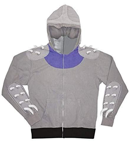 Teenage Mutant Ninja Turtles TMNT Shredder Zip-Up Hoodie Sweatshirt Gray