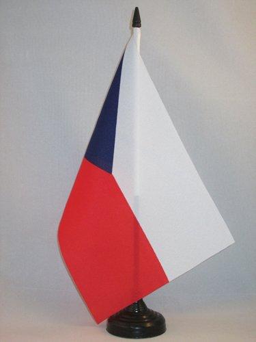 AZ FLAG TISCHFLAGGE Tschechien 21x14cm - TSCHECHISCHE TISCHFAHNE 14 x 21 cm - flaggen