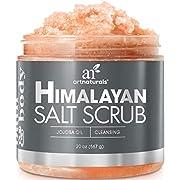 Art Naturals Himalaya Salz Peeling/Scrub 566 g, Tiefenreinigendes Körper Peeling   mit Karite-/Sheabutter & Jojoba-Öl   Pflegende Exfoliation für Strahlende Haut   Feuchtigkeitsspendend