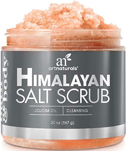 ArtNaturals Himalayan Body Scrub and Face Scrub - (20 Oz) - Deep Cellulite Cleansing Exfoliator with Sugar, Shea Butter, Exfoliating Himalayan - Natural Pink for Hand, Skin and Facial - Men and Women