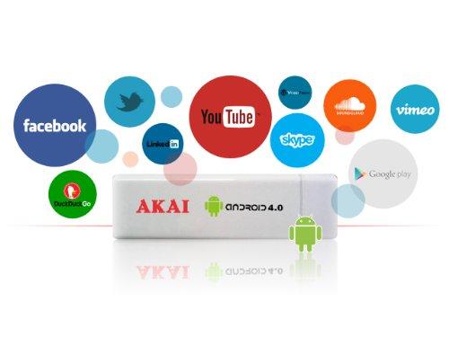 Akai AD02 - Adaptador Smart TV (HDMI, MicroSD) Color Blanco