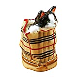 Limoges Imports - Limoges Imports Limoges Boxes - Cat In Burberry Bag Limoges Box