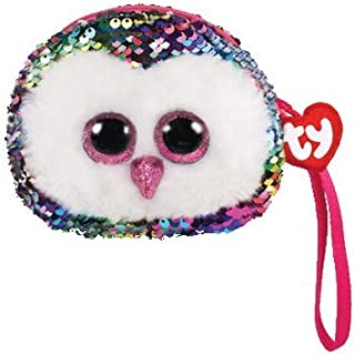 Ty Fashion - Owen The Owl - Wristlet Rainbow Sequins