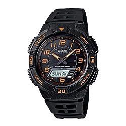 commercial Casio AQS800W-1B2VCF Slim Ana Digi Solar Multifunctional Sports Watch for Men casio se 700