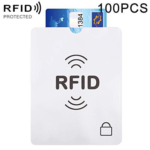 Warm Home Gift 100 stuks Anti-diefstal RFID Paspoort Passbook Protector Blokkeren Mes, Aluminium folie, Afmetingen: 13,5 * 10,5 cm Decoratie
