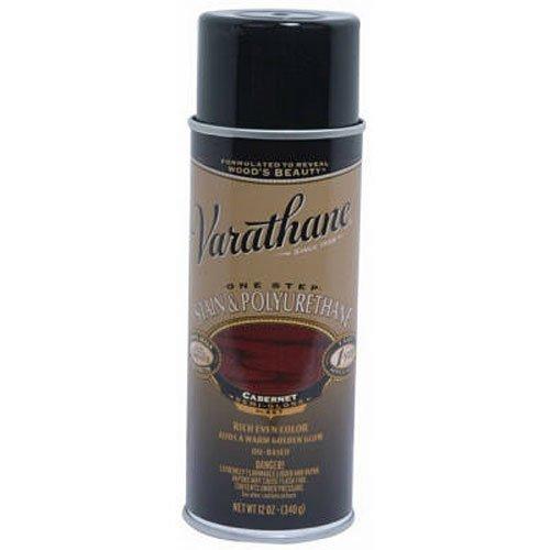 Varathane 243868 Wood Stain & Polyurethane Spray, 12 oz, Cabernet