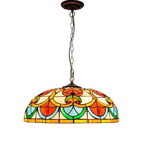 Luz de Techo Tiffany Araña de Estilo Tiffany 5 0cm Americano Simple Retro Creativo Amor Tiffany Manchado Sala Sala de Estar Comedor Dormitorio araña