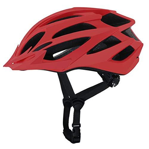 Montar Bicicleta Casco Exterior Ligero de Alta Resistencia Casco de Bicicleta de montaña de Edad Hombres Mujeres Rojo Casco de la Bici