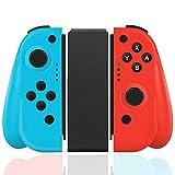 Elyco Wireless Controller per Nintendo Switch, Bluetooth Joystick Gamepad Interruttore Controller Mini Sostituzione Compatibile con Joy con Switch PRO - Blu e Rosso