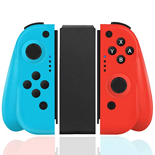 Elyco Wireless Controller per Nintendo Switch, Bluetooth Joystick Gamepad Interruttore Controller Mini Sostituzione Compatibile con Joy con Switch PRO - Blu e Rosso