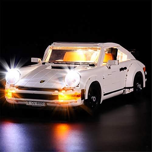Kit De Luces Led Para Lego Creator Porsche 911, Compatible Con El Modelo De Bloques De ConstruccióN De Juguetes Lego 10295 (No Incluido El Modelo)