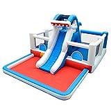 Castillo Inflable para niños Infantil Trampolín Castillo Inicio Interior y Exterior de Aire colchón de la Cama Salto del Parque Cama Castillo Hinchable Fortaleza