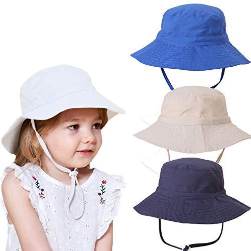 Mädchen Sonnenhut Verstellbarer Hut mit breiter Krempe Sonnenschutz UPF 50 für Baby...