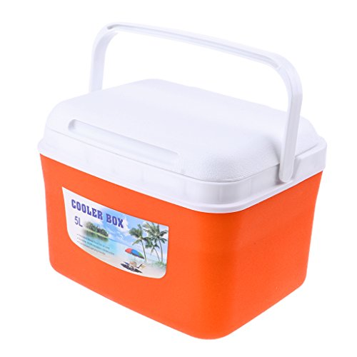 F Fityle Wasserdicht Picknick Box Outdoor kühlbox - Orange 5L