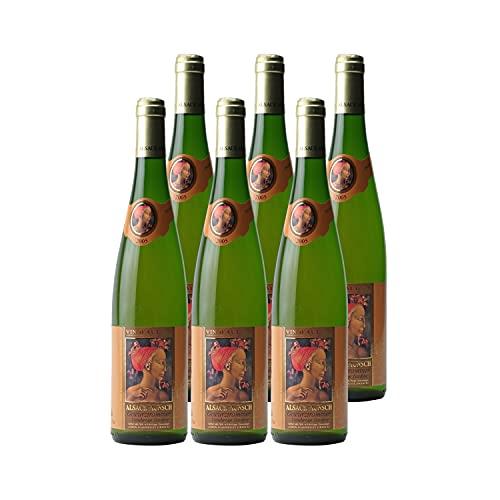 Alsace Gewurztraminer Vendanges Tardives Weißwein 2005 - Alsace Munsch - g.U. - Elsass Frankreich - Rebsorte Gewurztraminer - 6x75cl