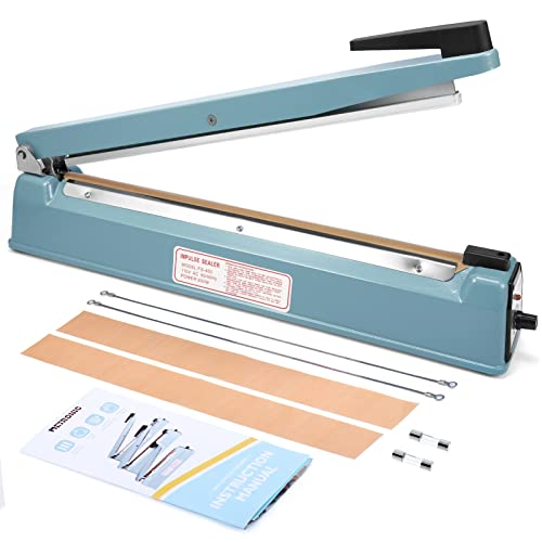 Metronic 16 inch Impulse Sealer Poly Bag Heat Sealer Sealing Machine Heat Seal Closer with Repair Kit