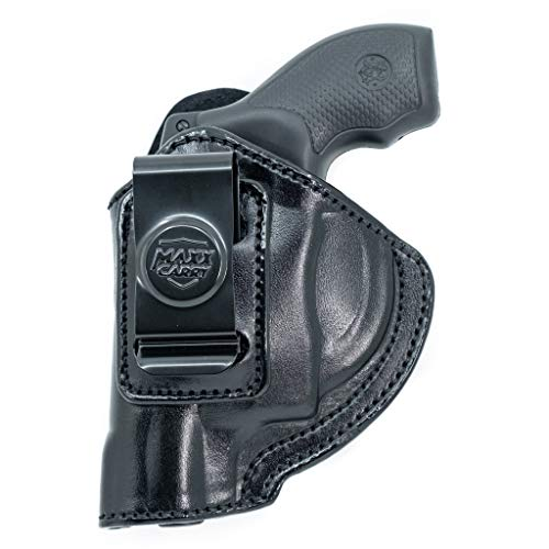 Maxx Carry Leather Iwb Ruger-LCR Holster SP101, Black, Left Hand Draw