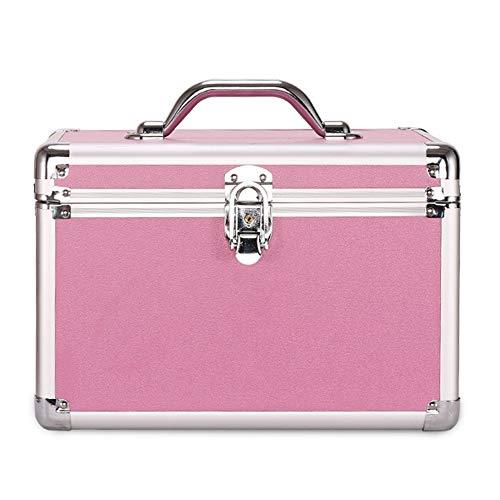 Cosmetische koffer Cosmetische Trein Case Sieraden Opbergtas Reistas, Draagbare Opbergdoos met Spiegel (30X20x20cm) C