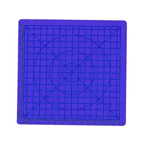 Aiyrchin 3D Pen Druck-Matten-Auflage Silikon-Matte Large Basic Template Ziehform und geometrische Grund Blau habende Werkzeuge für die 3D-Anfänger/Kinder 6.7x6.7x0.11inch