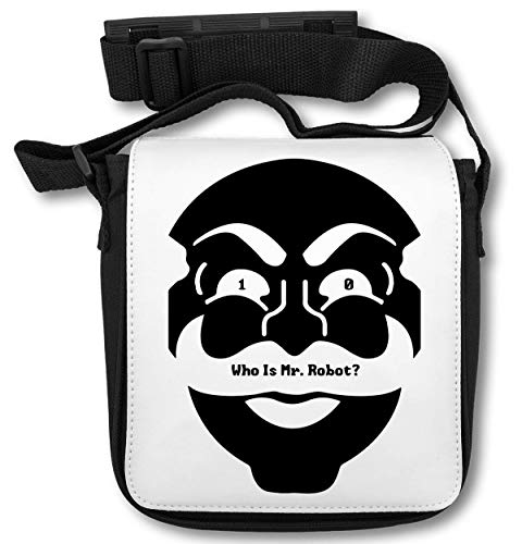 10 Who is Mr Robot Mask Art Cyber Hacker Elliot Tv Schultertasche