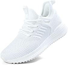 SDolphin Running Shoes for Women White Tennis Sneakers Breathable Mesh Memory Foam Lightweight Nursing Work Slip on Cool Jogging Athletic Gym Workout Shoes White 9 B (M) US