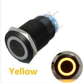 19 Mm 12V 5-pins LED Light Metal Push EsportsMJJ knop momentschakelaar