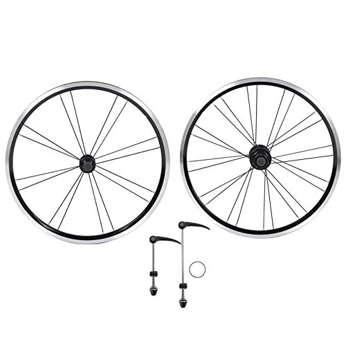 Juego de Ruedas de Bicicleta Aleación de Aluminio Delantero 2 Trasero 4 rodamientos V Freno Juego de Ruedas Bicicleta de montaña de 20 Pulgadas Bicicleta Plegable