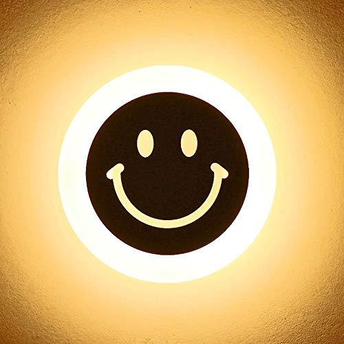 MAGO La entrada del LED luz de la escalera de luz del pasillo del pasillo luces lámpara de pared de dibujos animados for niños Smiley Face Luz de noche aplique la linterna Lámpara De Pared Creativa