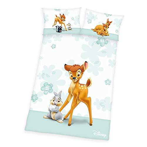 Herding Baby Bettwäsche Disney Bambi 100 x 135 cm 100% Baumwolle