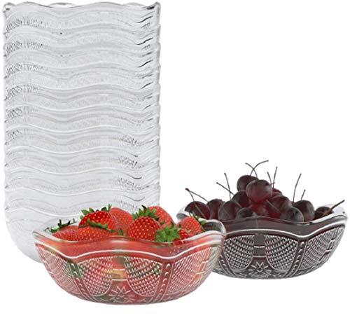 Homecredibles Reuseable Party Bowls   Microwave and Dishwasher Safe - Serving/Prep Bowls for Soup Salad Snack Desserts Candy Clear Plastic Bowls - 12 pack