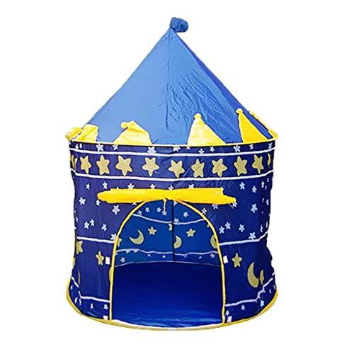 yotijar Children's Play Tent Large Children's Tent Play Tent, Princess Dream Castle Castle House - Blue