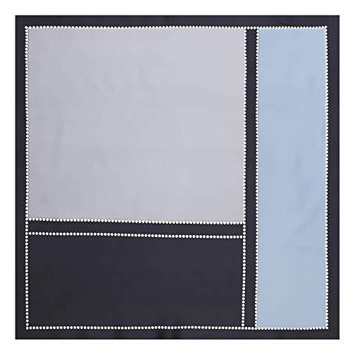 LSWYQM Vrouwen Foulard geometrische zakken bedrukken vierkante sjaal vrouwen sjaal zijde kleine Hijab Bandana 60 x 60 cm