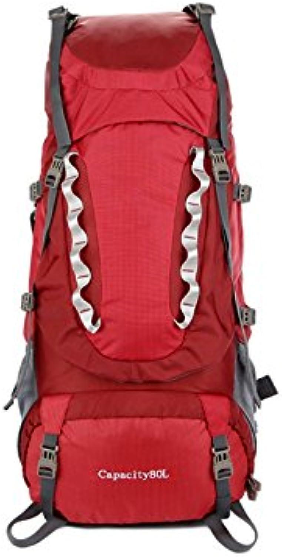 Mindruer Sportrucksack 80L große Kapazität im Freien Wasserdichte Wandern Wandern Wandern Reisen Klettern Rucksack (rot) B07LG9BLTT  Karamell, sanft 4dda5f